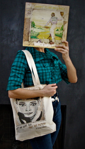 Audrey Hepburn Canvas Tote Bag