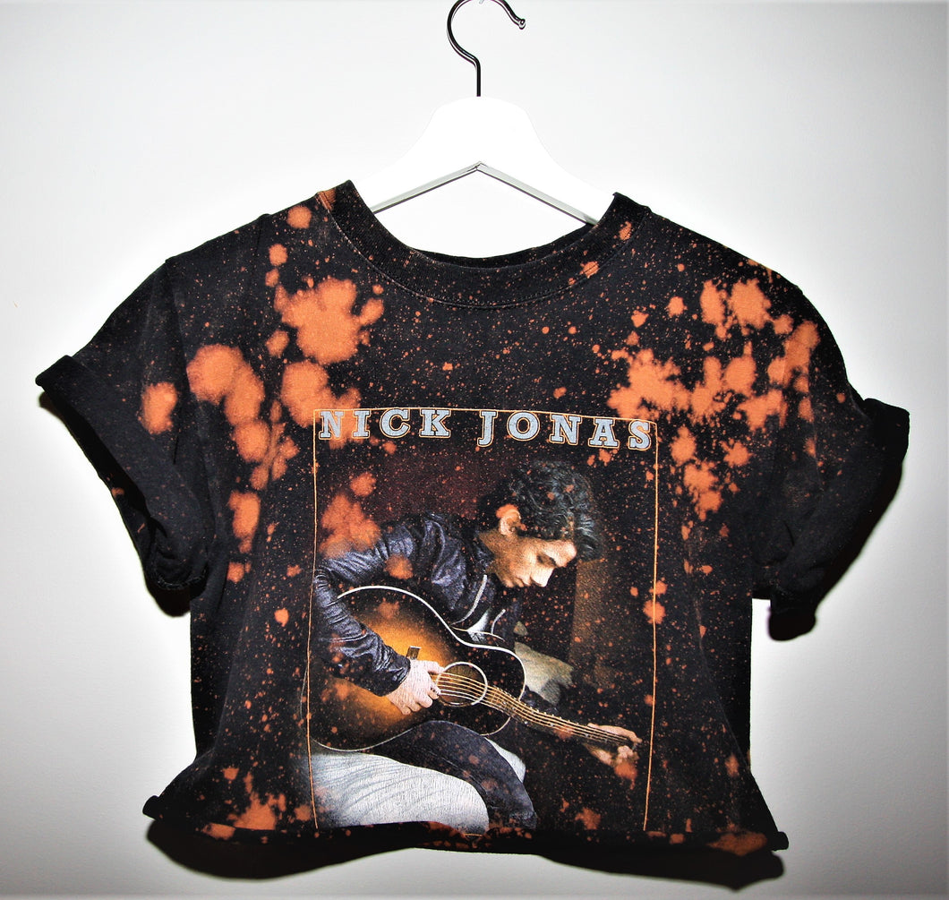 Nick Jonas Distressed Crop
