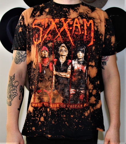 Sixx:A.M. Prayers for the Damned World Tour 2016 Distressed Band Tee
