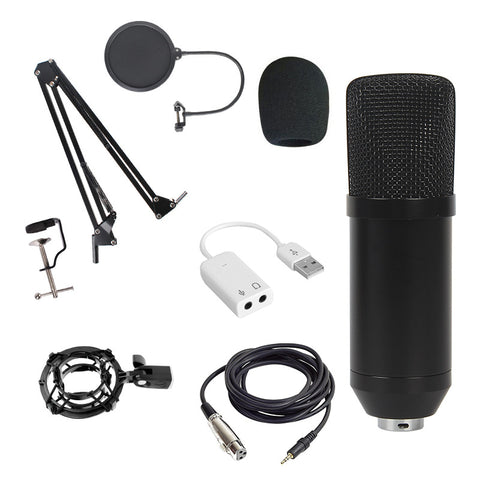 BM-800 Condenser Microphone Mic Sound Recording Studio Kits with Shock Mount - Pixco - Provide Professional Photographic Equipment Accessories