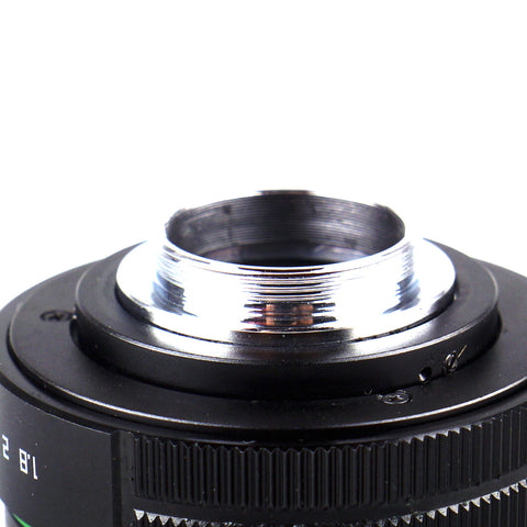 Pixco 25mm F1.8 APS-C Television TV CCTV Lens For 16mm C Mount Camera (Black) - Pixco