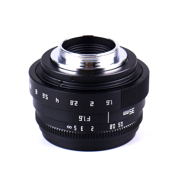 Pixco 35mm F1.6 APS-C Television TV CCTV Lens For 16mm C Mount Camera