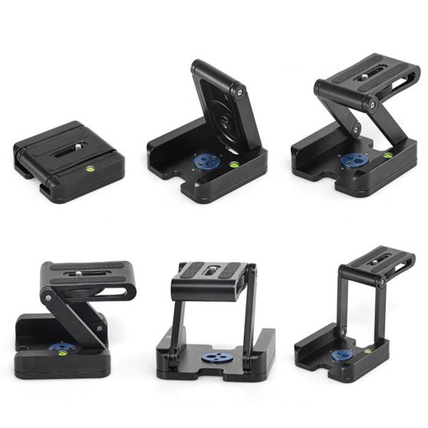 Z-Type Folding Desktop Quick Release Plate For camera Stand Holder Tripod