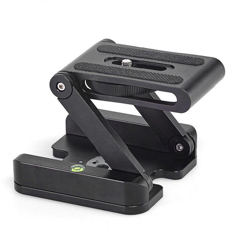 Z-Type Folding Desktop Quick Release Plate For camera Stand Holder Tripod - Pixco