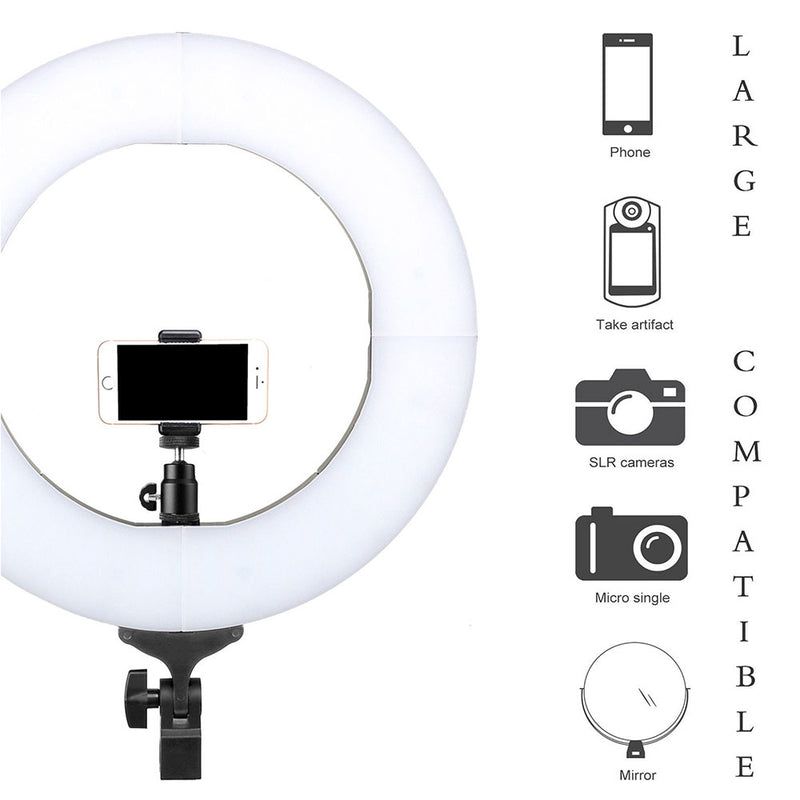 Pixco 18'' LED Ring Light Photography 60W 3200K-6000K 480pcs Bulbs With Remote Stand Kit - Pixco - Provide Professional Photographic Equipment Accessories