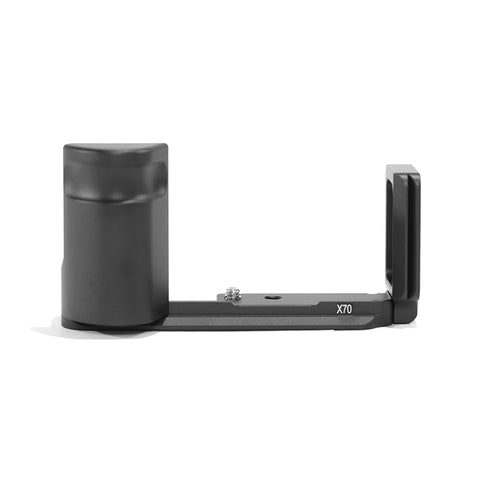 Pixco Metal L Plate Vertical Quick Release Grip for Fujifilm X-70 - Pixco