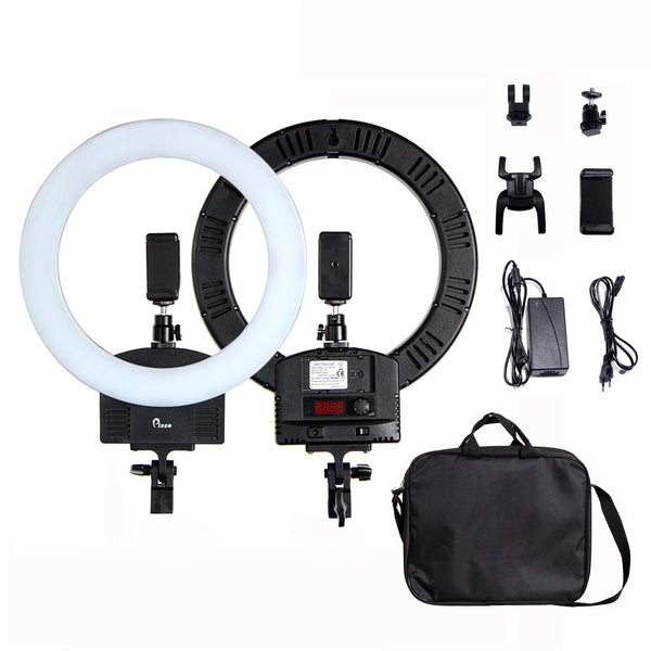 Pixco 13'' LED Ring Light 36W 3200K-5600K 240pcs Bulbs With Remote Stand Kit