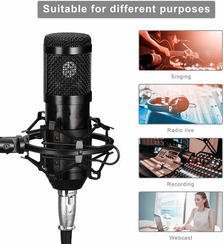 PM-12 Professional Cardioid Studio Mic Kit - Pixco - Provide Professional Photographic Equipment Accessories