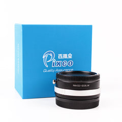 Nikon G-Canon EOS M Speed Booster Focal Reducer Adapter - Pixco - Provide Professional Photographic Equipment Accessories