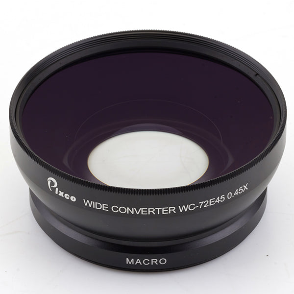 Professional 72mm 0.45X Wide Angle & Macro Conversion Lens - Pixco