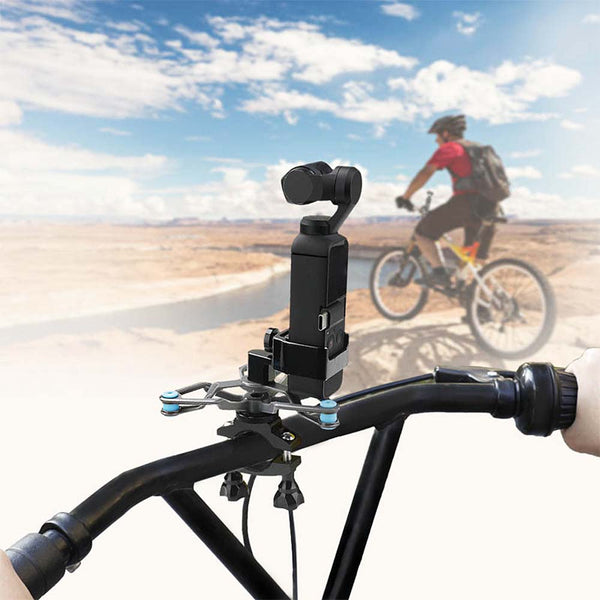 Bike Motorcycle Handheld Gimbal Stabilizer For DJI Osmo Pocket Reduced vibration - Pixco
