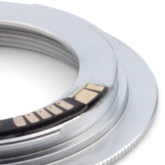 M42-Canon EOS Flange AF-3 Confirm Adapter Silver - Pixco