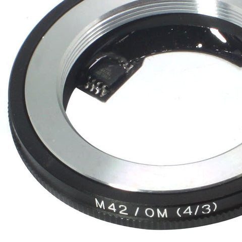 M42-Olympus 4/3 Silver AF Confirm Adapter - Pixco - Provide Professional Photographic Equipment Accessories