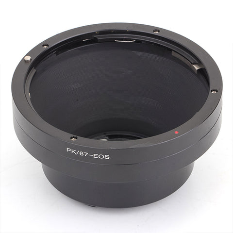 Pentax 67-Canon EOS GE-1 AF Confirm Adapter - Pixco