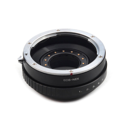 Canon EF-Sony NEX Built-In Aperture Control Dial Adapter - Pixco