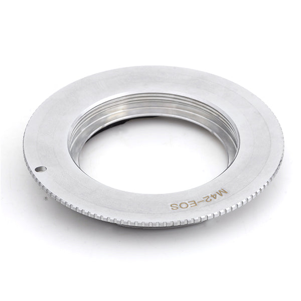 M42-Canon EOS Flange Silver GE-1 AF Confirm Adapter - Pixco - Provide Professional Photographic Equipment Accessories