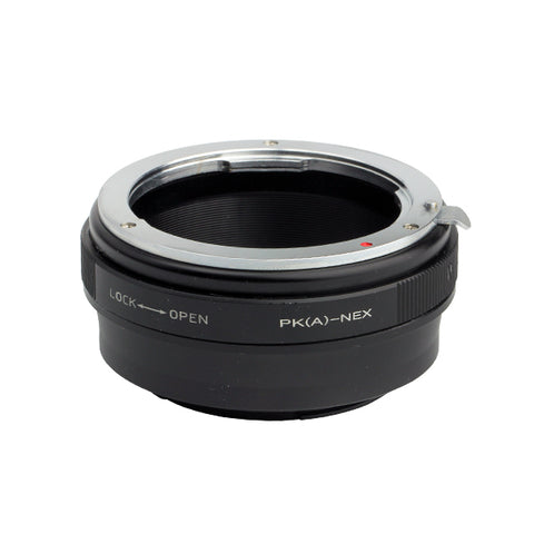 Pentax K PK-Sony NEX Built-In Aperture Control Dial Adapter