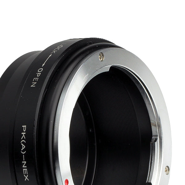Pentax K PK-Sony NEX Built-In Aperture Control Dial Adapter - Pixco - Provide Professional Photographic Equipment Accessories