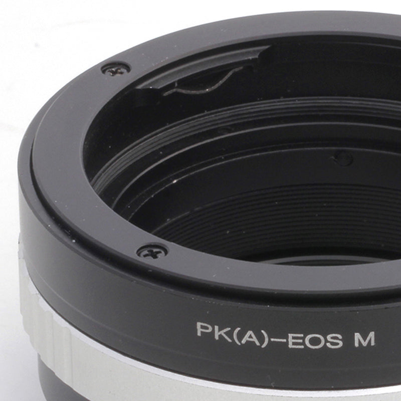 Pentax K-Canon EOS M Built-In Aperture Control Dial Adapter - Pixco - Provide Professional Photographic Equipment Accessories