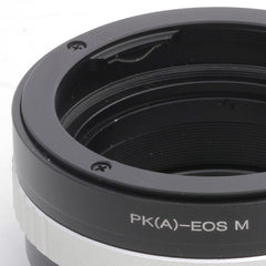 Pentax K-Canon EOS M Built-In Aperture Control Dial Adapter - Pixco