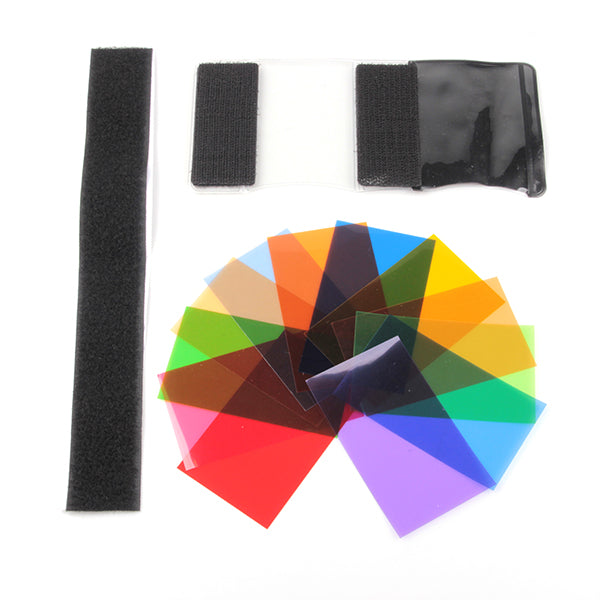 Top Flash chips PL-SP set 12 filter comes with Velcro bags - Pixco - Provide Professional Photographic Equipment Accessories