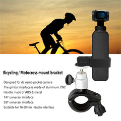 Bicycle Bracket Bike Motorcycle Mount Clamp Holder Stand for DJI OSMO Pocket - Pixco