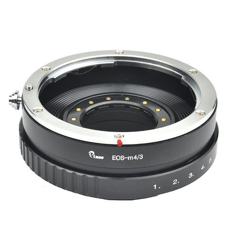 EF-Micro 4/3 Built-In Aperture Control Dial Adapter - Pixco