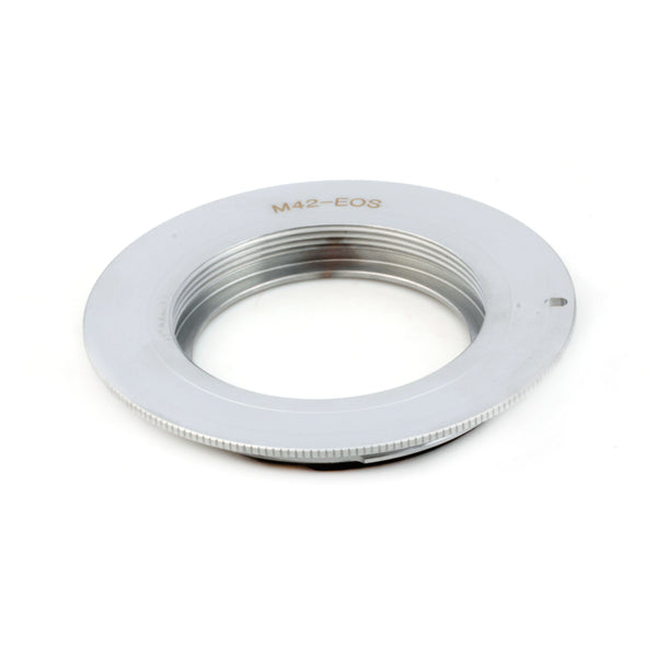 M42-Canon EOS Flange Silver EMF AF Confirm Adapter - Pixco