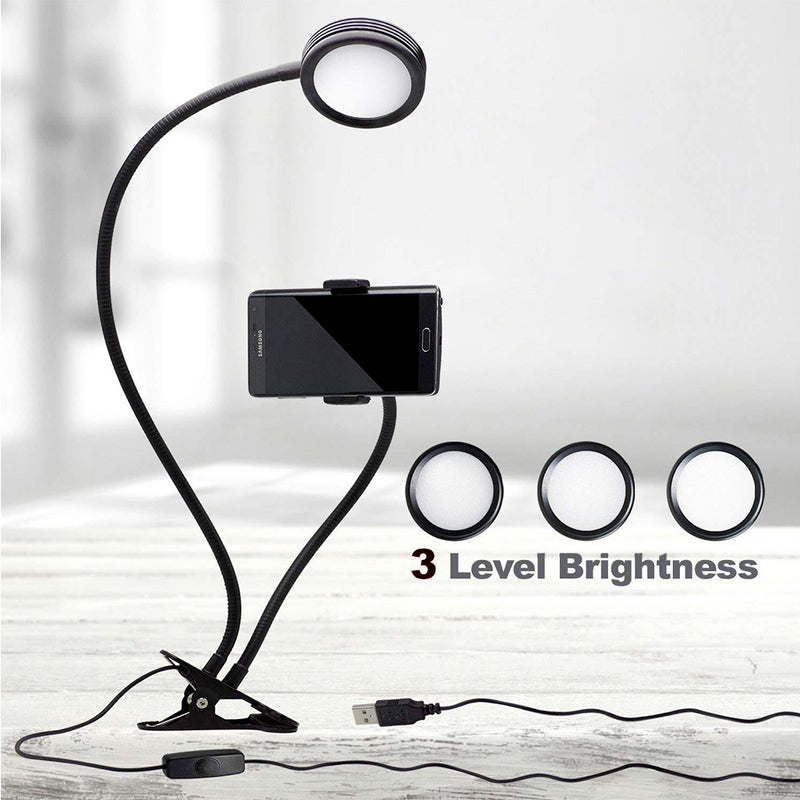 Pixco USB Clip-on LED Ring/Round Light Flexible Plant Grow Lamp - Pixco - Provide Professional Photographic Equipment Accessories