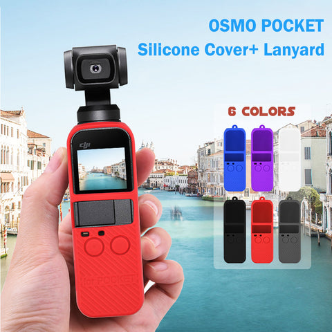 Silicone Case with Lanyard Compatible For DJI Osmo Pocket - Pixco - Provide Professional Photographic Equipment Accessories