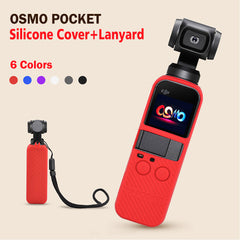 Silicone Case with Lanyard Compatible For DJI Osmo Pocket - Pixco