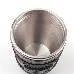 Coffee Lens Thermos Drinking Cup - Pixco