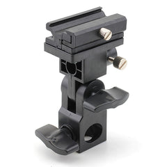 Flash Shoe Umbrella Holder Swivel Light Stand Bracket B Type Hot-shoe flash - Pixco