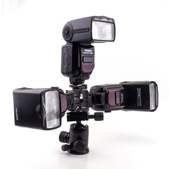 Triple Hot Shoe Mount Adapter Flash Light Stand - Pixco - Provide Professional Photographic Equipment Accessories