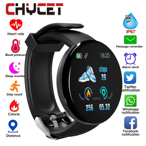 RELOGIO INTELIGENTE bluetooth smart watch unissex pressão arterial smartwatch watch à prova d 'água tracker whatsapp