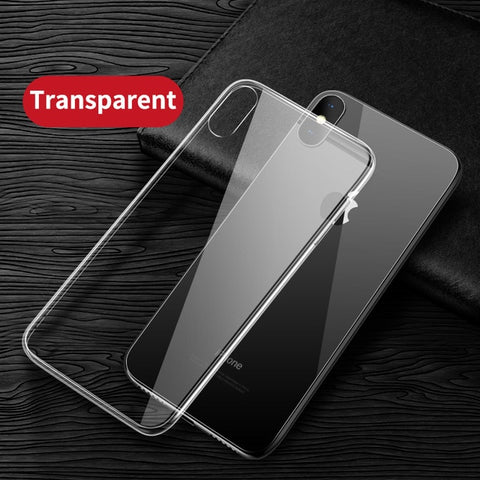 Image of Capa De Vidro De Luxo P/ iPhone - Case Ultra Fino Transparente Super Resistente