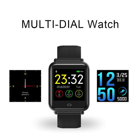 RELOGIO Multi-Dial Q9 Smartwatch IPX67 band