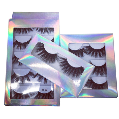 Custom lashes boxes, holographic paper lases boxes, wholesale high quality 3d mink15mm 25mm lashes mink hand made lashes