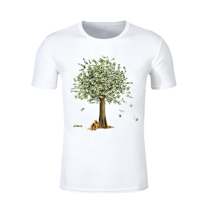 30 Set's) New Arrival Hot Sale Trendy Money Tree Printed T-shirt