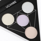 Wholesale Triangle Shape Design 4 Colors 2 ln 1 Eye Shadow And Highlighter Palette 10 Twenty 2