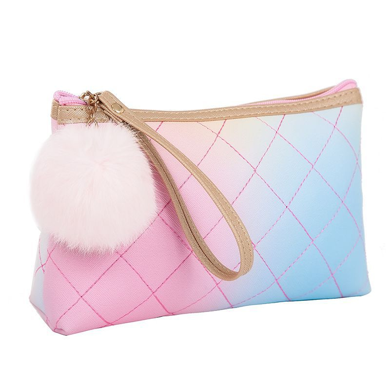 Wholesale Fashion Multicolor Pompom Decor Design Handhold Cosmetic Bag 10 twenty 2 kylie cosmetics, jeffree star, mocha p beauty, queen km cosmetics, the crayon case, the boujee way, audacitycos, hello black child, made by ari j cosmetics