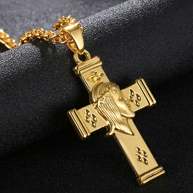 30 Set's) Hot Sale Jesus Cross Decor Unisex Pendants Necklace