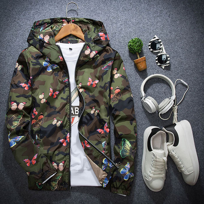 30 Set's) Mens Casual Camouflage Print Autumn Jacket