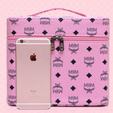 Wholesale Fashion Letter Print Double Layer Large Capacity Zipper Cosmetic Case