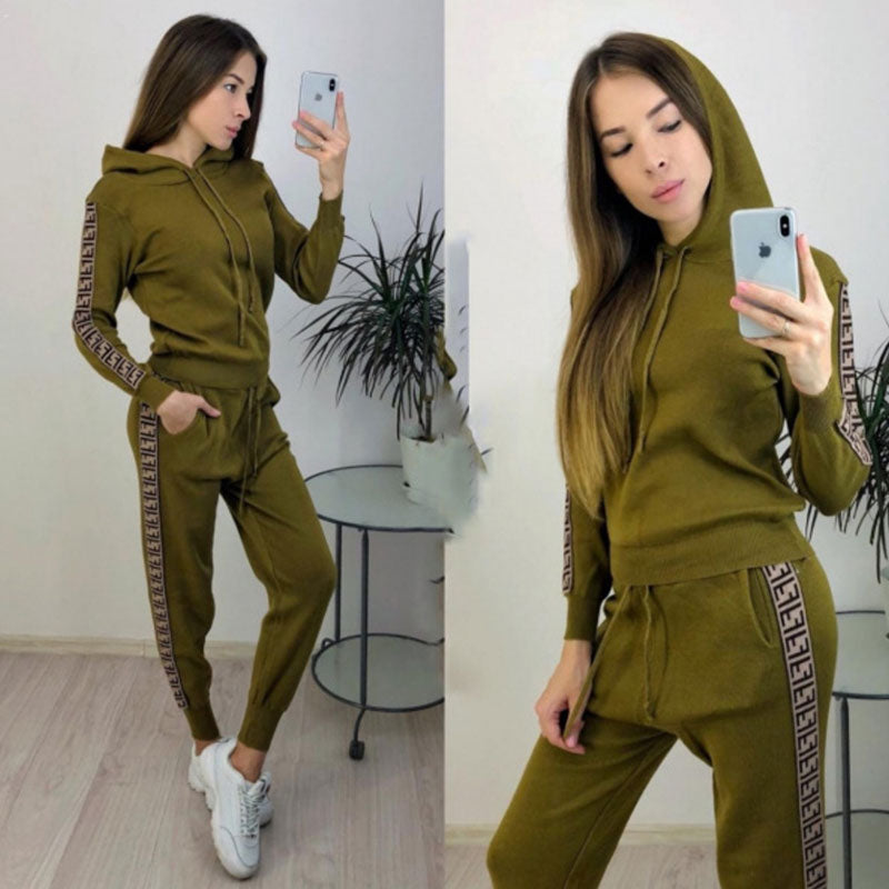 30 Set's) Hooded Long-sleeve Top And Sports Pants Casual Two Piece Sets