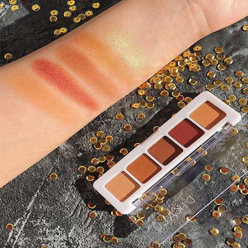 30 Set's) 5 Colors Glitter Sunset Eye Shadow Palette