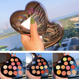 30 Set's) Heart Shape 12 Color Shimmer Eyeshadow