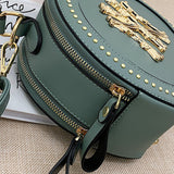30 Set's NYC Vintage Round Shape Rivet Decoration Crossbody Bag