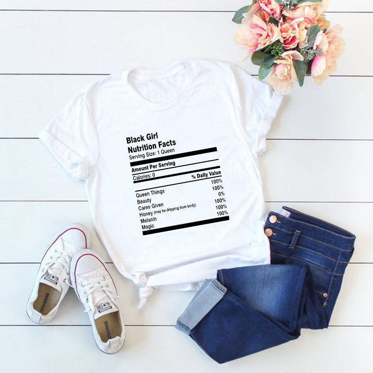 30 Set's) Black Girl Simplicity Letter Printing T-Shirts-10 TWENTY 2 RETAIL©