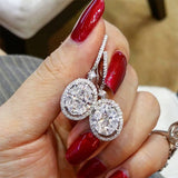 Wholesale Women Shiny Oval Zircon Decor Earrings 10 twenty 2 vendor